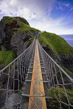 Carrick A Rede Rope Bridge, Antrim, Ireland