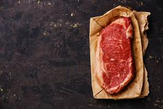 Raw fresh meat Striploin steak by liskina-nora on Creative Market