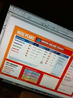 Meal Plan Brochures! Cross platform fonts only. Making me hungry. Must… stop… for… food… Deadline… approaching!