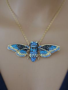 Statement Necklace Butterfly Necklace by chloesvintagejewelry