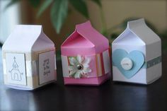 mini milk carton boxes (free pattern)