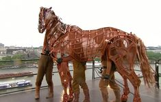 Tribute: The National Theatre arranged for its own special event to honour the Queen's Jubilee - by staging part of play War Horse on a rooftop overlooking the Thames