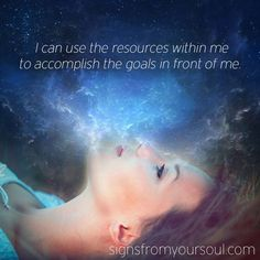 Affirmation:  I can use the resources within me to accomplish the goals in front of me - John Holland
