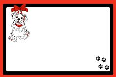 Dálmatas - Mini Kit com molduras para convites, rótulos para guloseimas, lembrancinhas e imagens!