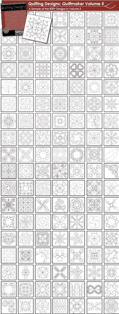 Free Machine Quilting Motifs | The Quiltmaker Collection Volume 5