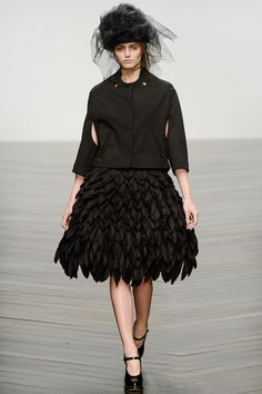 Agne Konciute for John Rocha , london fashion week 2013_2014