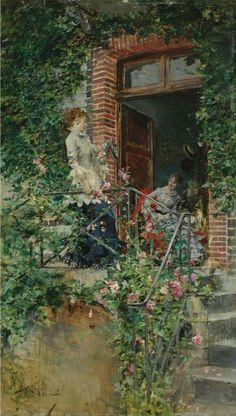 On The Terrace, Giovanni Boldini. Italian (1842 - 1931)