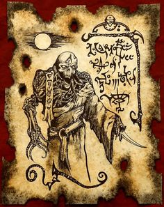 UNDEAD SORCERER Cthulhu larp Necronomicon Scrolls dark by zarono