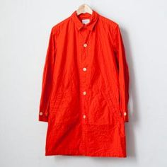【Men's&Ladies'】Manual Alphabet / Typewriter shirt coat : orange