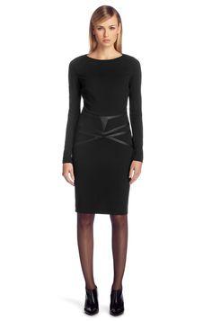 Jurk ´Klarasi` van viscosemix door HUGO #black #dress #fashion #lbd