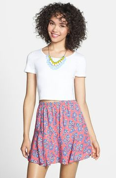 Painted Threads Full Skort (Juniors) available at #Nordstrom