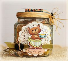 Ohhh... this altered jar by Amy is divine!  I know what I'll be picking up on my next trip to the craft store. :)