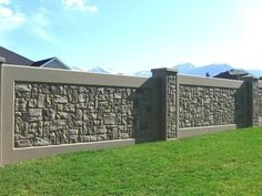 stone fence ideas really like this one - Wall Fencing Designs