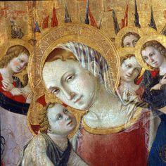 San Severino Marche (MC): Pinacoteca P. Tacchi Venturi - Lorenzo d'Alessandro , Madonna con Bambino (sec. XV) - Marche - Italy