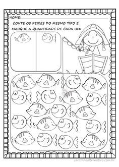 Tally Mark activities: FREE~ 5 Fish Nursery Rhyme with Math Printables including this one reinforcing tally marks. Kindergarten Classroom, Teaching Math, Math Resources, Math Activities, Math Numbers, Math Concepts, 1st Grade Math, Homeschool Math, Elementary Math