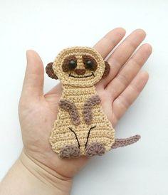 PATTERN Meerkat Applique Crochet Pattern PDF Safari Zoo Animal
