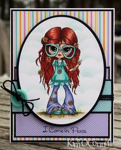 """Paper Perfect Designs by Kim O'Connell: """"Eleanor Hippie"""" by Lacy Sunshine Digital Stamps"""