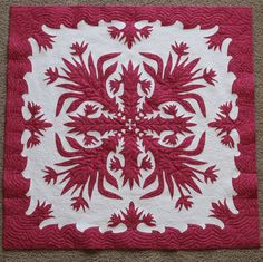 """Bonnie is given the pattern for """"The Aloha Quilt,"""" inspired by the Bird of Paradise flower, by Hinano, a man she befriends in Lahaina during her stay on Maui."""