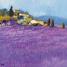 Wild Lavender, Provence Art Print by Hazel Barker - WorldGallery.co.uk