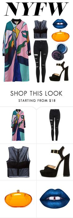 """""""NYFW"""" by sphinx-moth ❤ liked on Polyvore featuring Relaxfeel, Topshop, T By Alexander Wang, Shoe Republic LA, Lime Crime, women's clothing, women, female, woman and misses"""