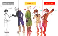Japan,Prussia,Germany,Romano and 2p! Italy!!-->Romano's and Germany's reaction to 2p! Italy is hilarious