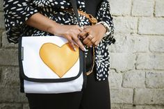 Ntombi bag with heart Applique Photo taken by Smith Photography