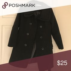 Women's Black Peacoat Black Peacoat ordered from online boutique, fits like a small or medium. Stock photo just for styling ideas but very similar Jackets & Coats Pea Coats