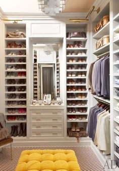Who wouldn't want a perfectly organized dream closet like this?