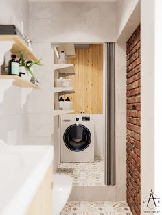 TIMOSHENKO on Behance Lightroom, Adobe Photoshop, Stacked Washer Dryer, Washer And Dryer, Apartment Interior, Interiores Design, Laundry, Home Appliances, Behance