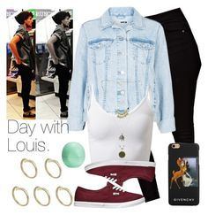 """Day with Louis."" by welove1 ❤ liked on Polyvore featuring ASOS, Topshop, Pieces, Vans, Eos and Givenchy"