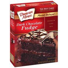 Duncan Hines Dark Chocolate Cake Mix Cookies