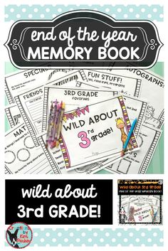 $ Looking for a fun way to reflect on the school year? This wild animal themed booklet will allow students to create an end of the year keepsake. Booklet Includes: Cover  School Year At a Glance Favorites Memories (the thing I will remember most about 3rd grade...) Reading Reflections Math Reflections Friends Recess Memories Specials Memories Field Trips, Programs, Parties Autographs $