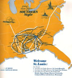 1969 - July 1 - Southern Airways Timetables, Route Maps and History.