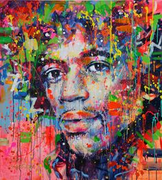 Buy Prints of Jimi, a Acrylic on Canvas by Marta Zawadzka from Poland. It portrays: Pop Culture/Celebrity, relevant to: rock, America, quitar, jimi, Hendrix, Jimi Hendrix, idol, love, music I just love him :)    enjoy :*    PAINTING ready to hang on the wall (sides painted)    MATERIALS: acrylic, ink, oil, spray on canvas  I use only top quality paint and varnish protective.   Painting sign in the front and also on the back.  The colors may look a little bit different depending of the c...