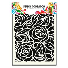 Pochoir mask Dutch doobadoo motifs fleur rose