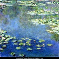 "Claude Monet, 1840-1926  ""Water Lilies"" Began Impressionist style with painting titled ""Impression Sunrise"""