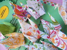 Paper Cranes by... www.papilottaspapierwerkstatt.de