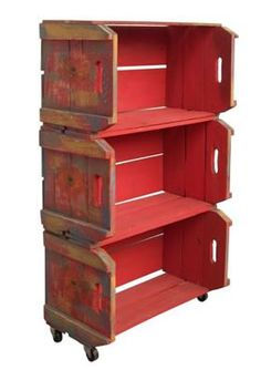 ESTANTE RECICLADA PASSO A PASSO COM CAIXOTE DE MADEIRA  Muitos deles são jogado fora sem proveito, mas podemos fazer muita coisa com estas caixas de madeira, como criar uma estante reciclada de livros ou estante reciclada de brinquedos para seu filho.