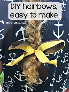 diy hairbow, easy to make, hairbow, diy, craft, girls, volleyball, softball, team bows, hair accessories, ribbon