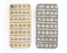 Iphone case - ethnic geometric natural linen
