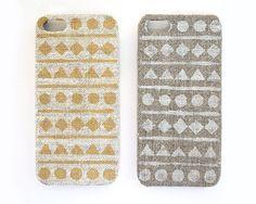 Iphone 5 case /natural linen