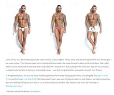 Underwear Expert introduces the 2013 Jack Adams Model: Jesse Jordan.