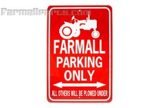 Farmall Tractor Parking Only Sign White/Red - Toys, Books, & Gifts - Farmall Parts - International Harvester Farmall Tractor Parts - IH Tractor Birthday, 2nd Birthday, Birthday Ideas, Farmall Tractors, Tractor Parts, International Harvester, Good Ole, Ih, Boy Room
