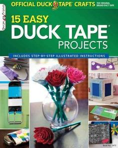 Duck Tape comes out of the tool box and into the craft box, with 15 fun projects including a book cover, wallet, cell phone case, and flip-flops.