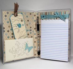 Turn a DVD Case into a cute gift idea like this! Great gift idea~