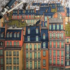 Paris From Fantastic Cities Coloring Book