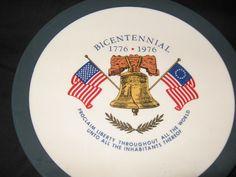 Bicentennial Souvenir Plate by TrailBlazerRetroShop on Etsy