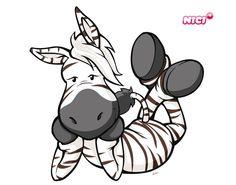Wandtattoo Wild Friends Zebra