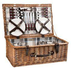 Picnic Time Newbury Picnic Basket, Light Brown