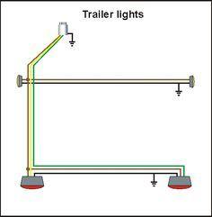 Standard 4 Pole Trailer Light Wiring Diagram | Automotive Electronics | Trailer wiring diagram